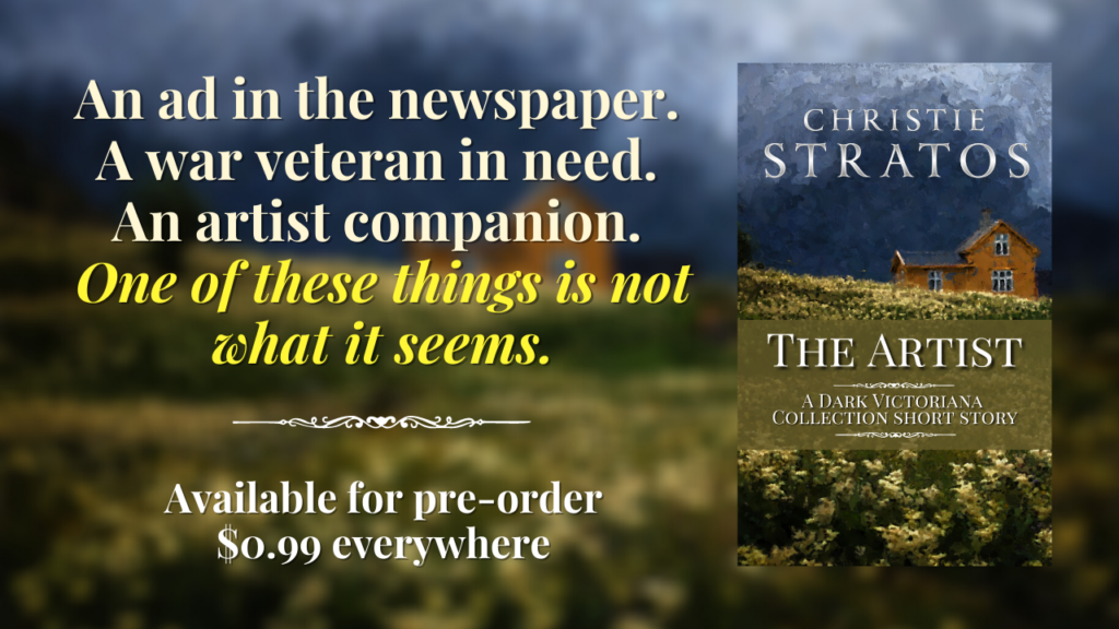The Artist by Christie Stratos pre-order graphic